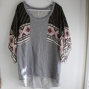 Free People Pullover Oversized Poncho sweater Sz L
